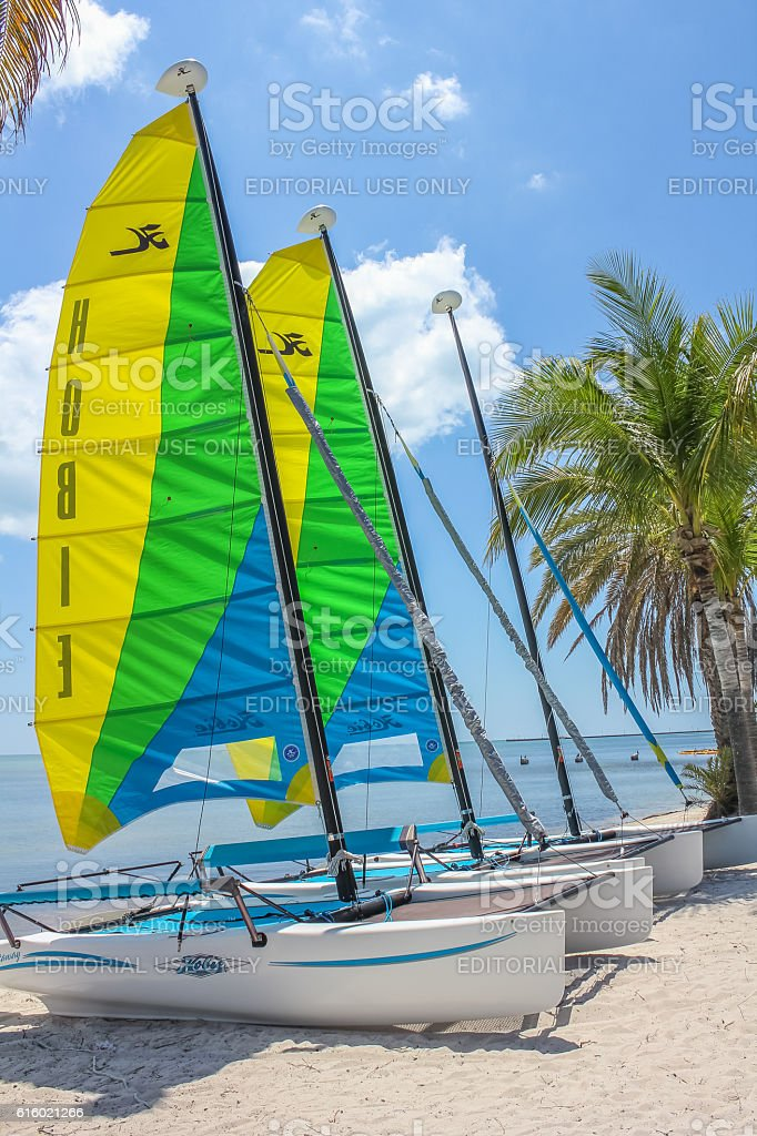 Key West sailing boats stock photo