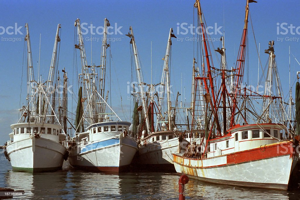 Key West Shrimp Boats stock photo