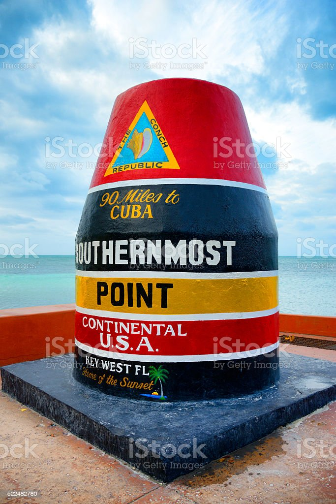 Key West southernmost place in USA stock photo