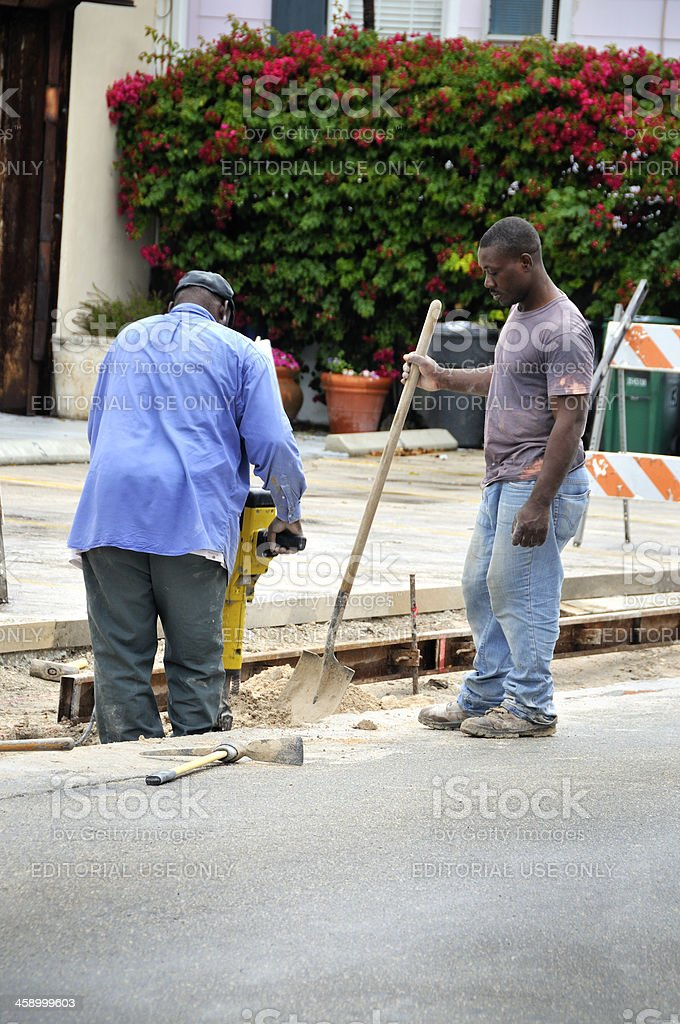 Key West: Street Repairs in Progress royalty-free stock photo