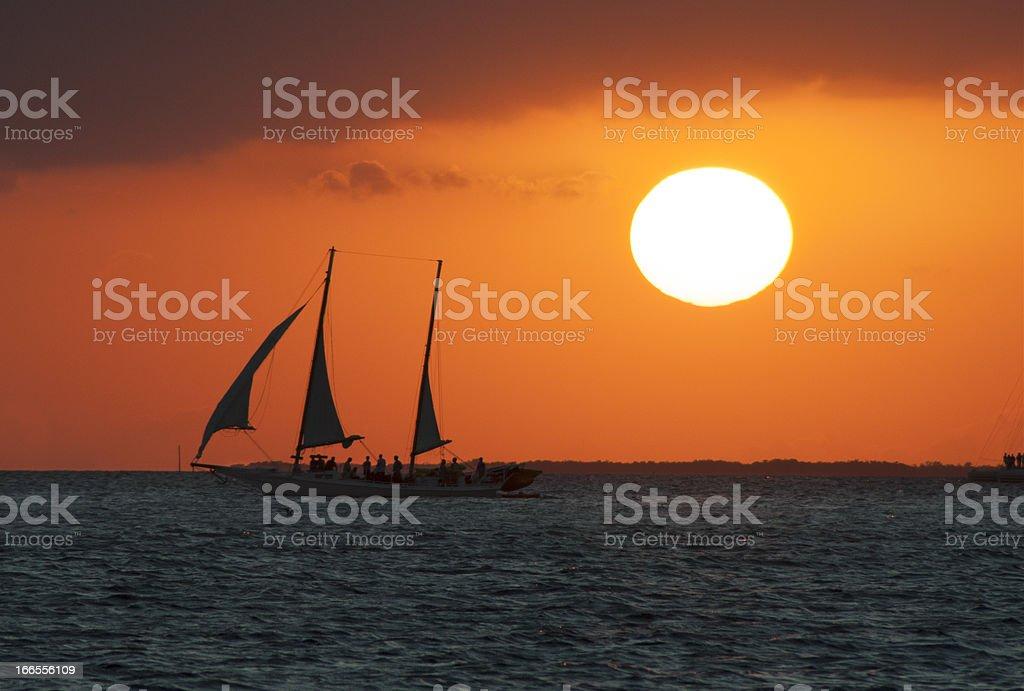 Key West - Sunset royalty-free stock photo