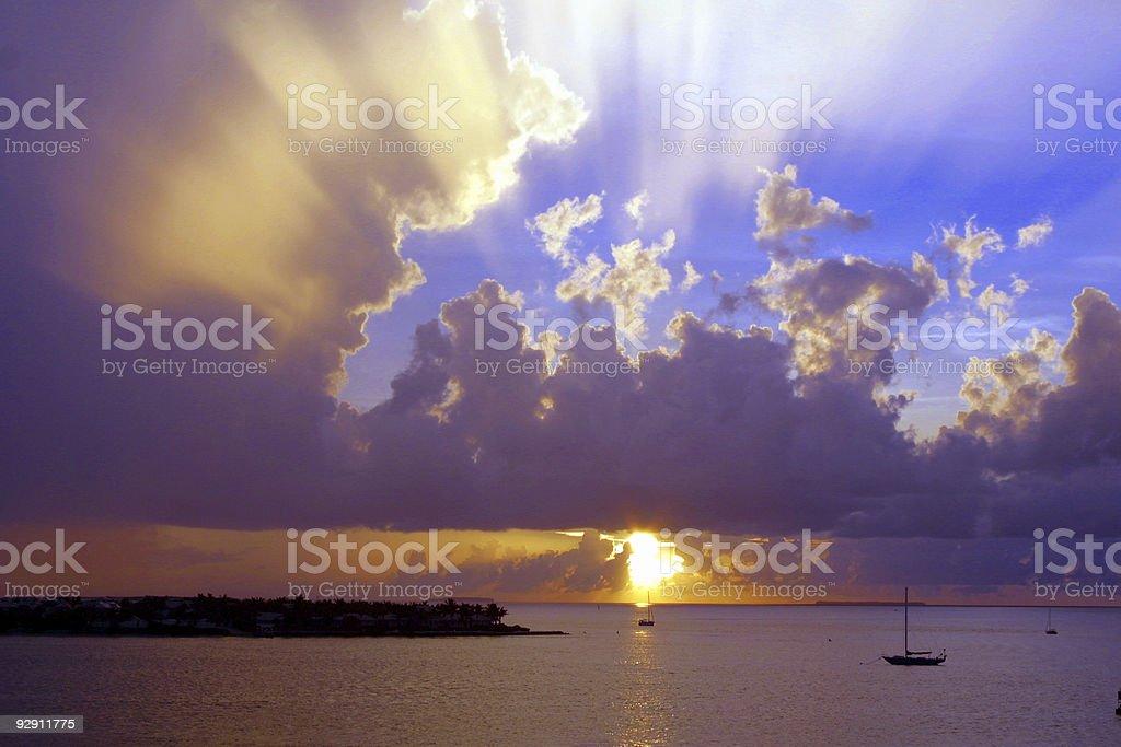 Key West Sunset stock photo