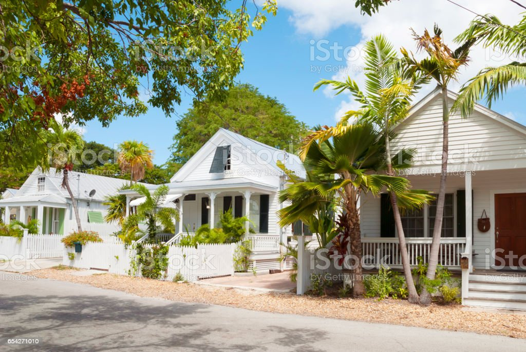 Key West typical architecture stock photo