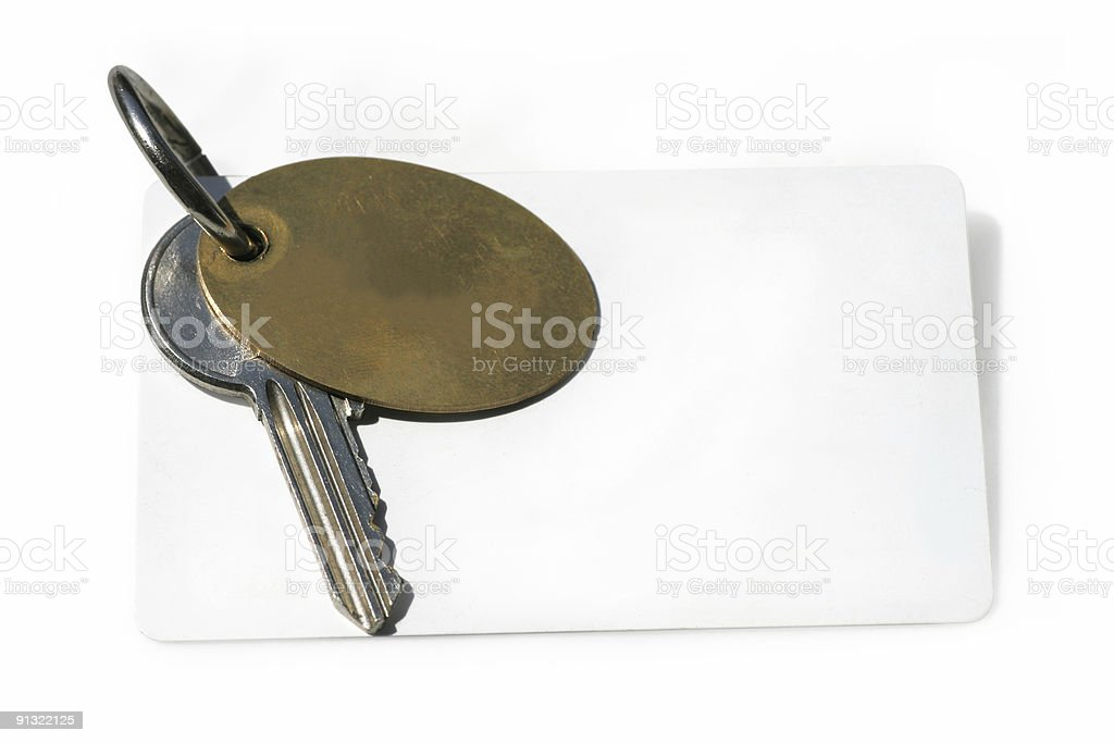 key with blank card royalty-free stock photo