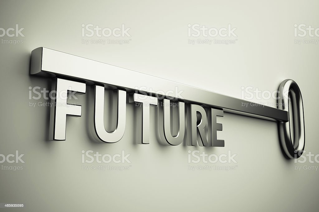 Key With Future stock photo