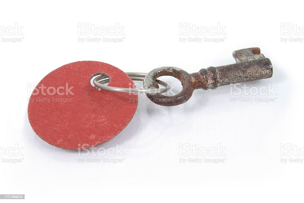 Key with label royalty-free stock photo