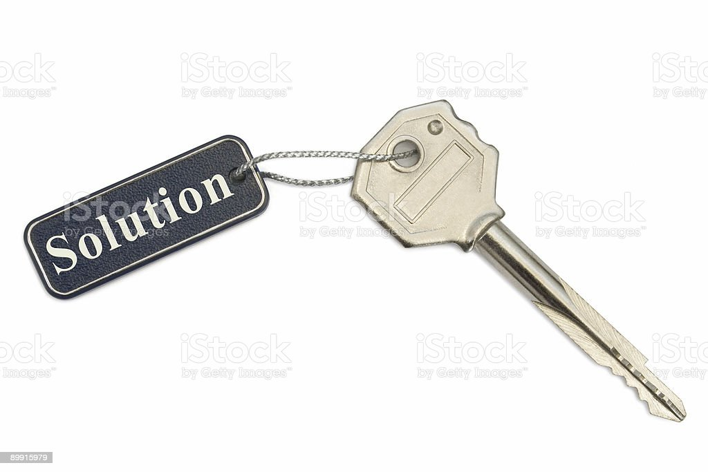 Key with label Solution royalty-free stock photo