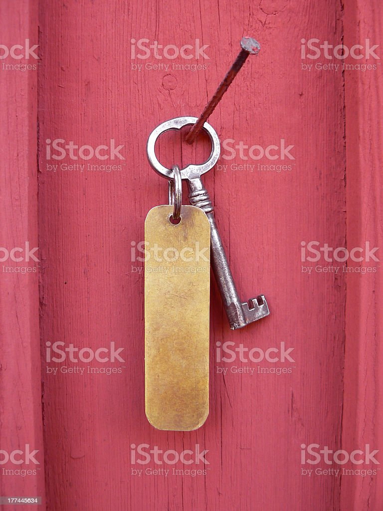 Key with tag royalty-free stock photo
