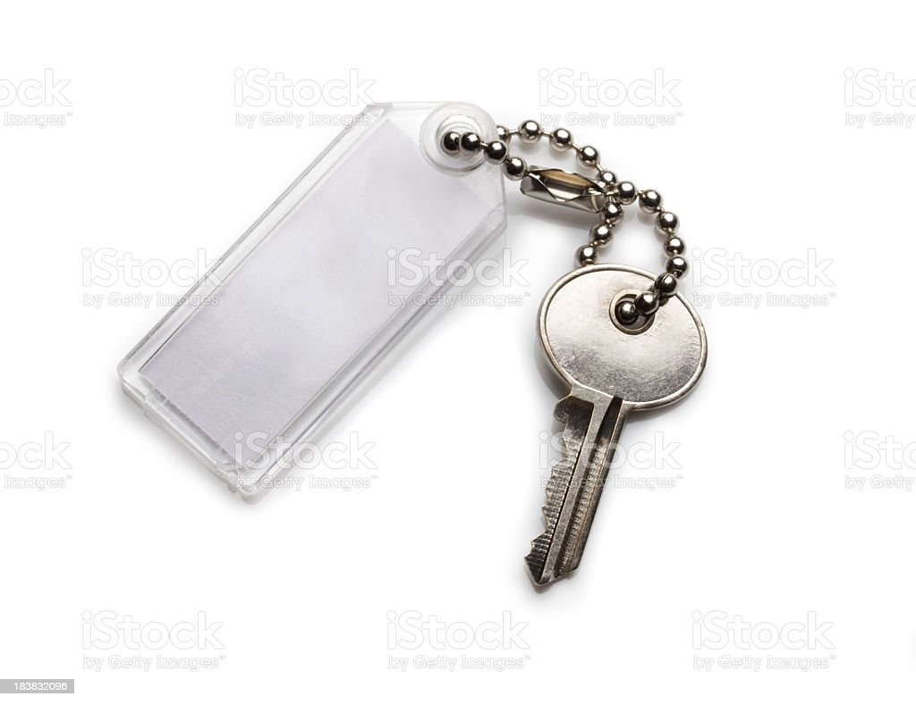 Key with tag stock photo