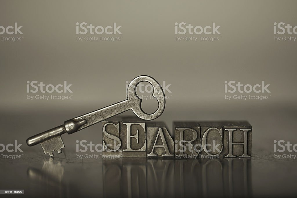 Key Word Search royalty-free stock photo