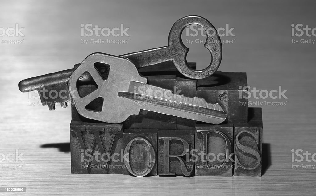 Key Words New and Old royalty-free stock photo