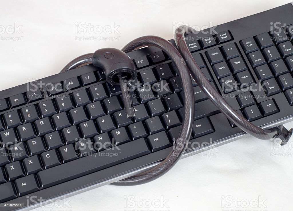Keyboard and chains royalty-free stock photo