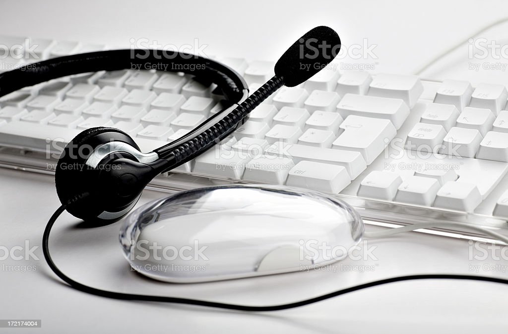Keyboard and headset royalty-free stock photo