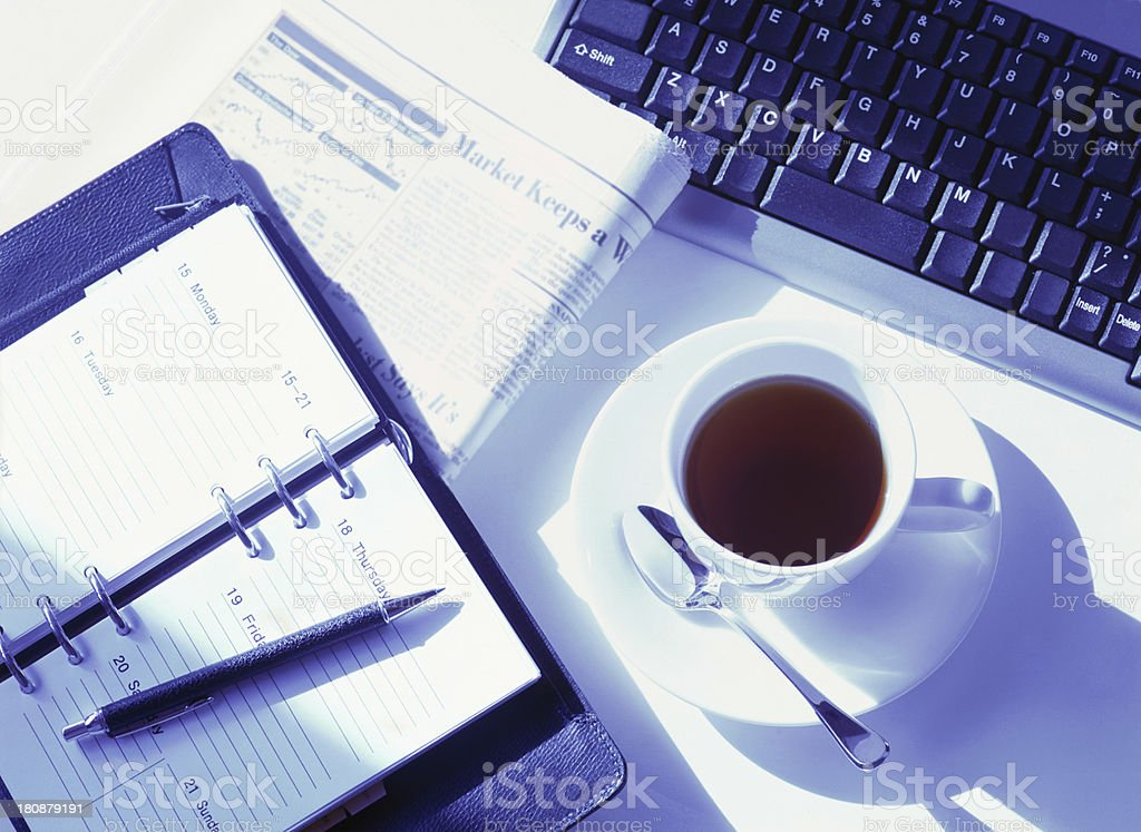 keyboard and newspaper royalty-free stock photo