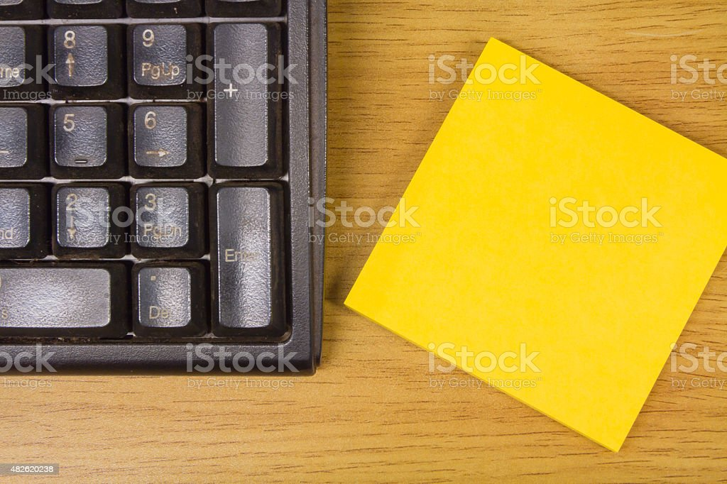 Keyboard and  paper. stock photo
