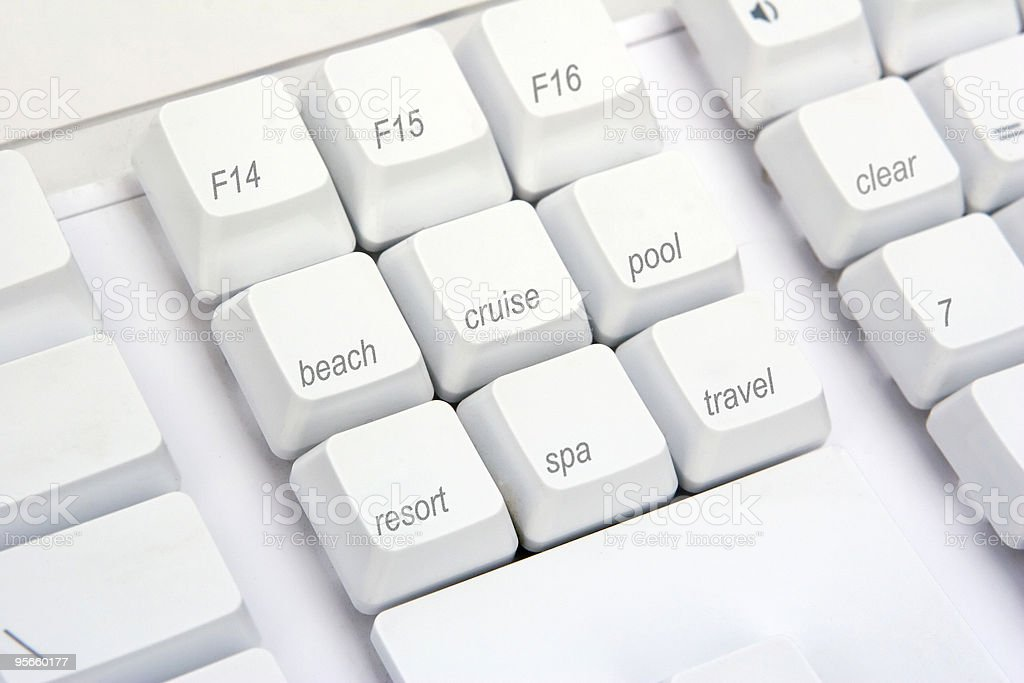 Keyboard Angle Rec royalty-free stock photo