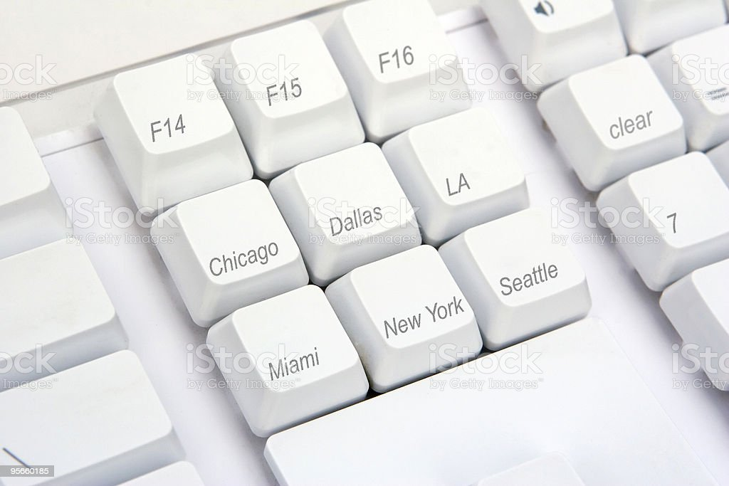 Keyboard Angle US royalty-free stock photo