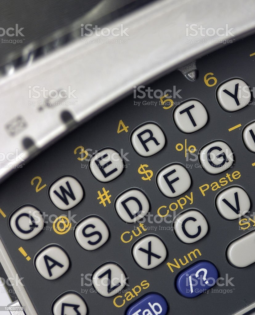 QWERTY PDA Keyboard - angled view royalty-free stock photo