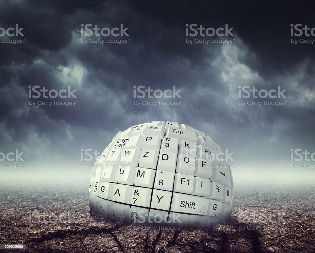 Keyboard ball stock photo