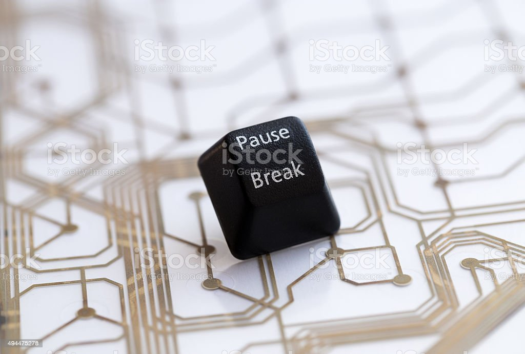 keyboard black button pause break stock photo