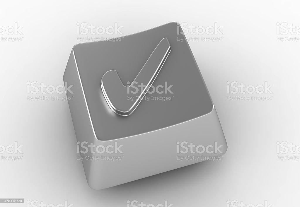 Keyboard button with check mark sign royalty-free stock photo