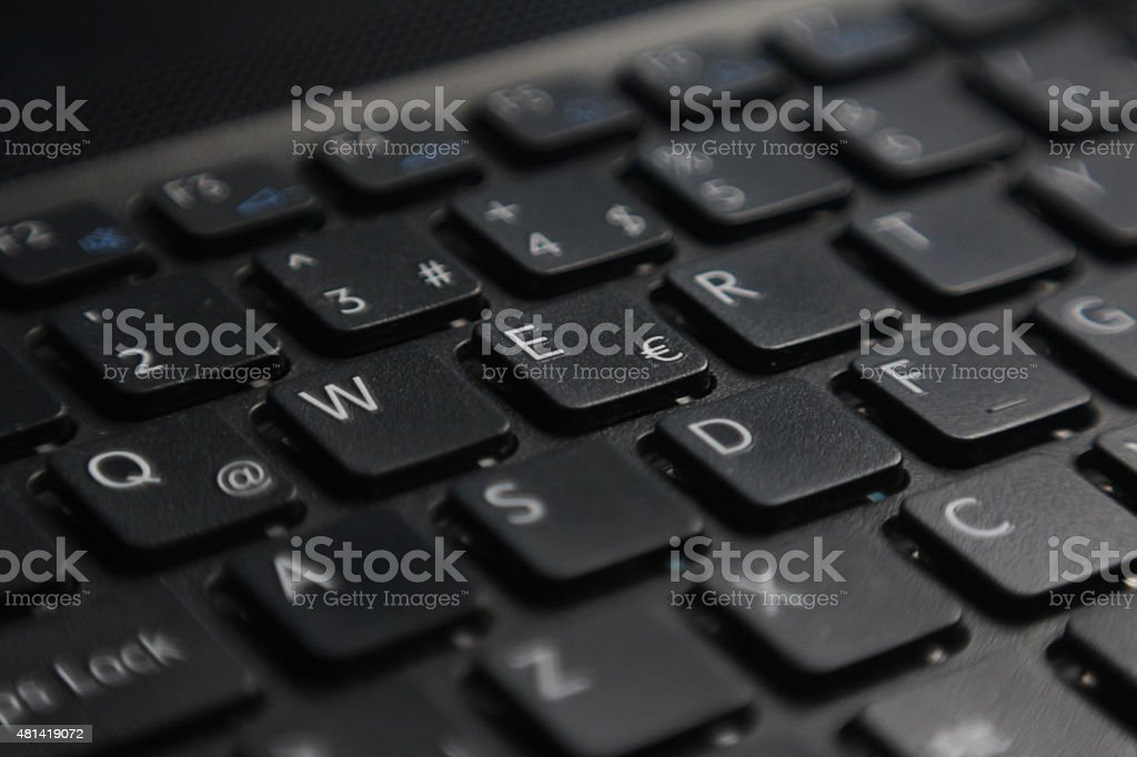 Keyboard close-up stock photo