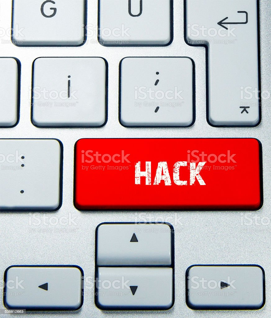 Keyboard Concept hack stock photo