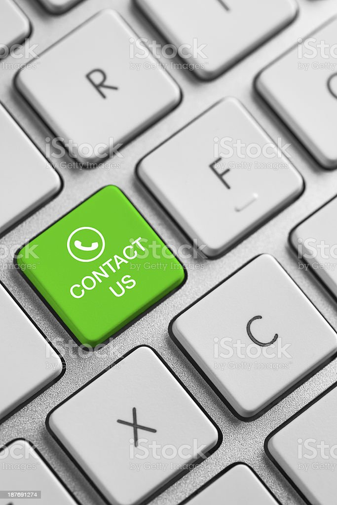 Keyboard - Contact us royalty-free stock photo