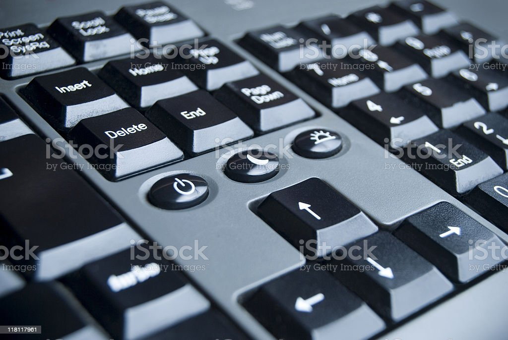 Keyboard detail stock photo