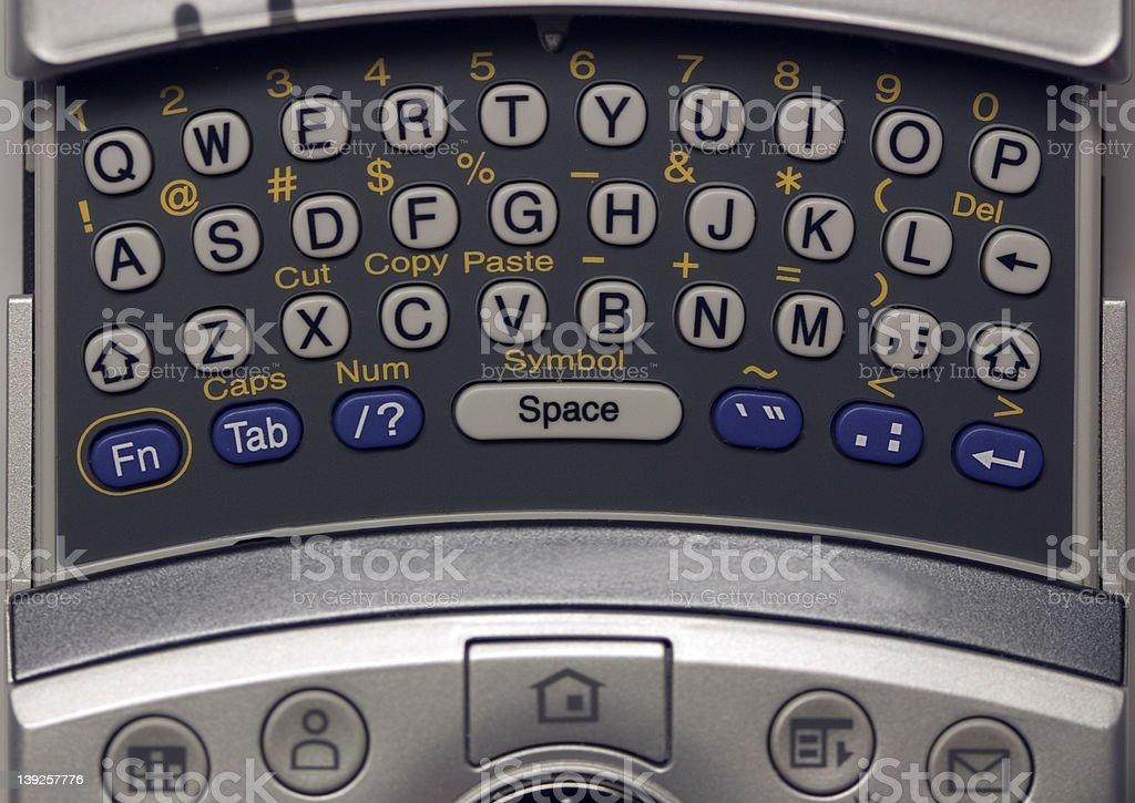 QWERTY PDA Keyboard - fullview royalty-free stock photo