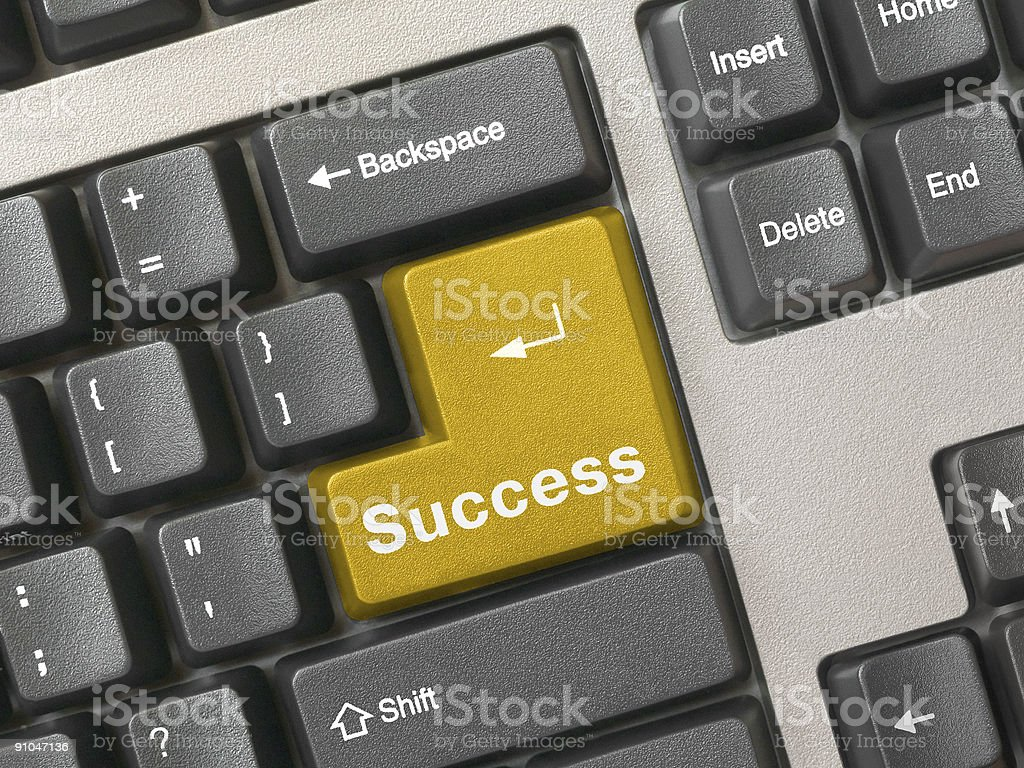 Keyboard - golden key Success royalty-free stock photo