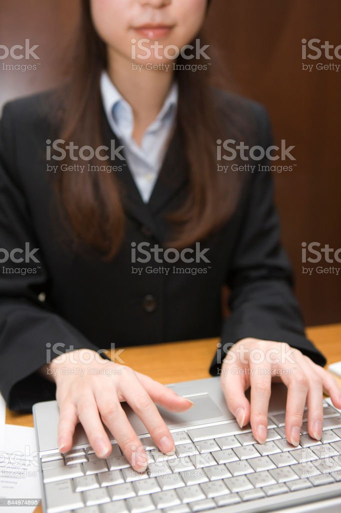 Keyboard input stock photo