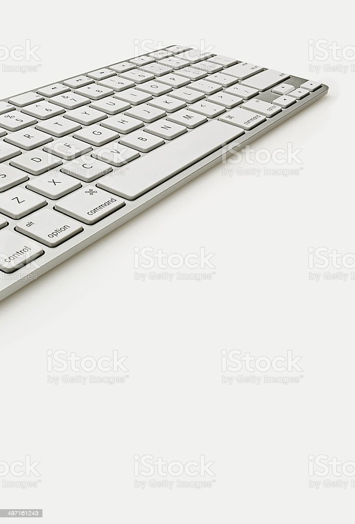 Keyboard Isolate on White royalty-free stock photo