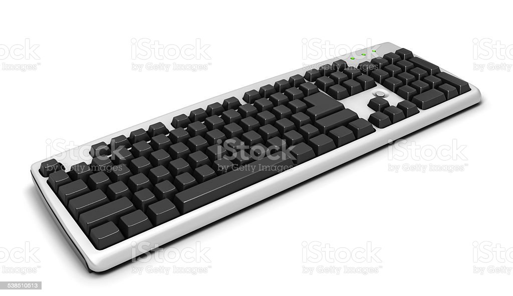 Keyboard isolated on white baclground stock photo