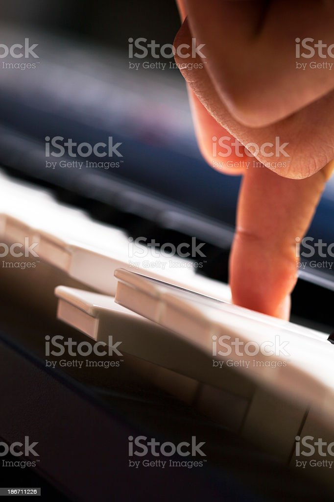 Keyboard key close up royalty-free stock photo