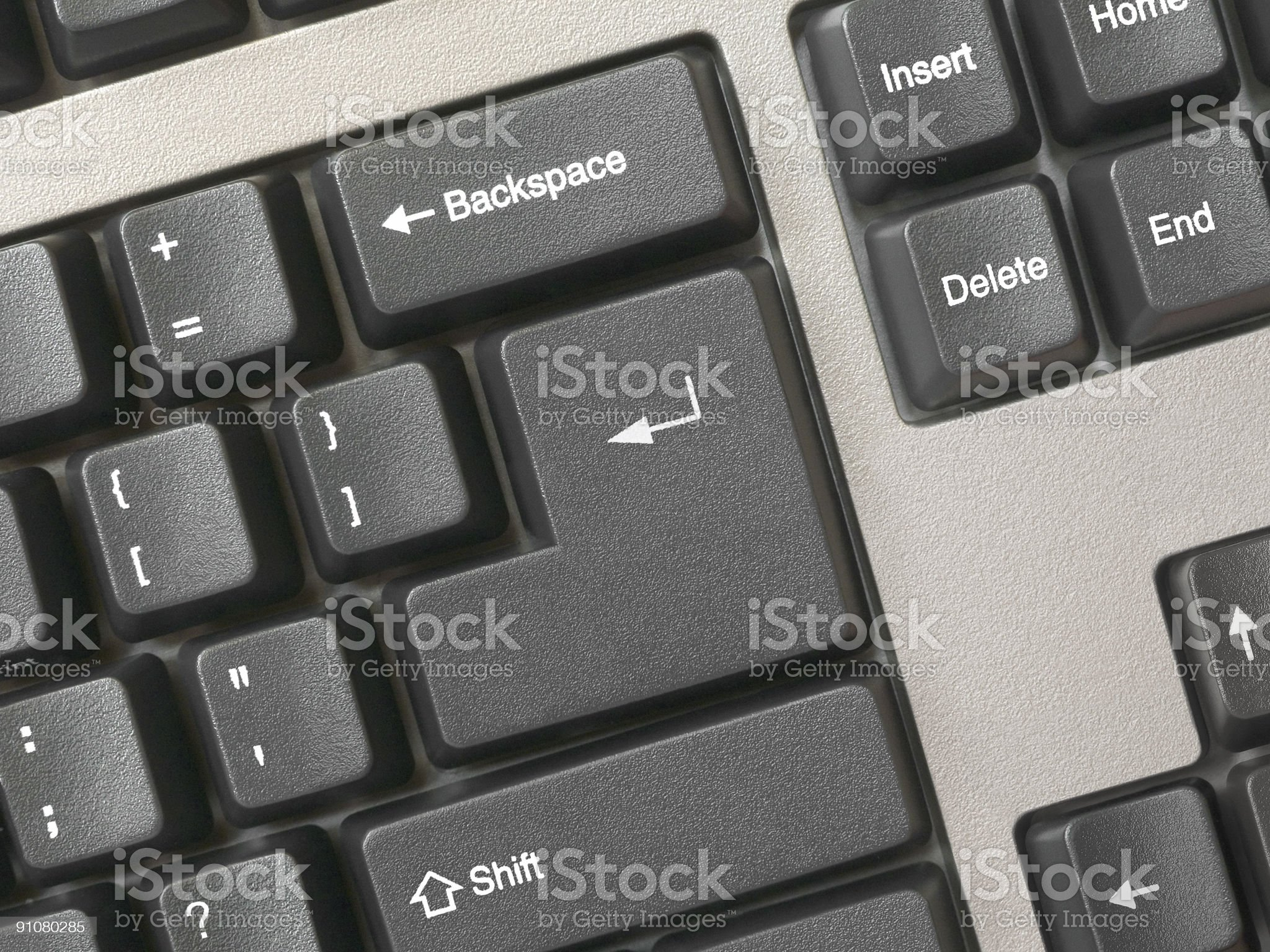 Keyboard -  key Enter, clean royalty-free stock photo