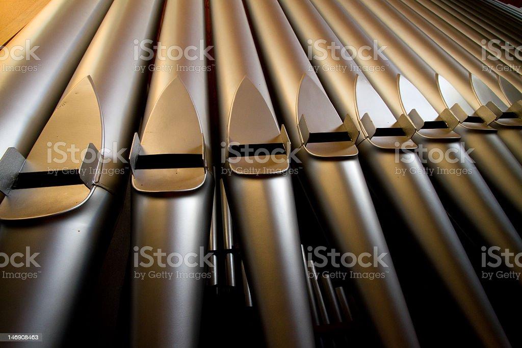 Keyboard keys close-up of a church organ stock photo