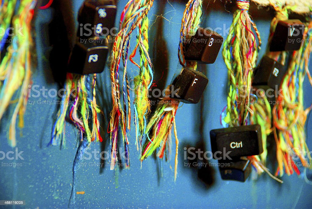 keyboard keys stock photo