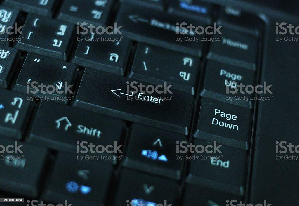 Keyboard laptop. stock photo