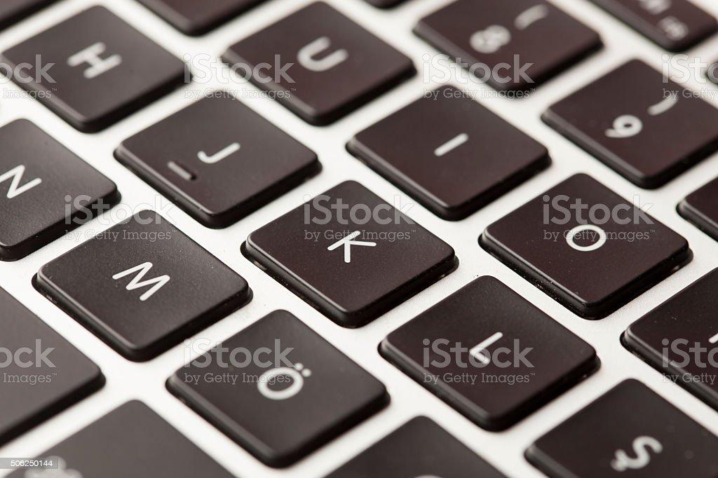 keyboard letter k stock photo