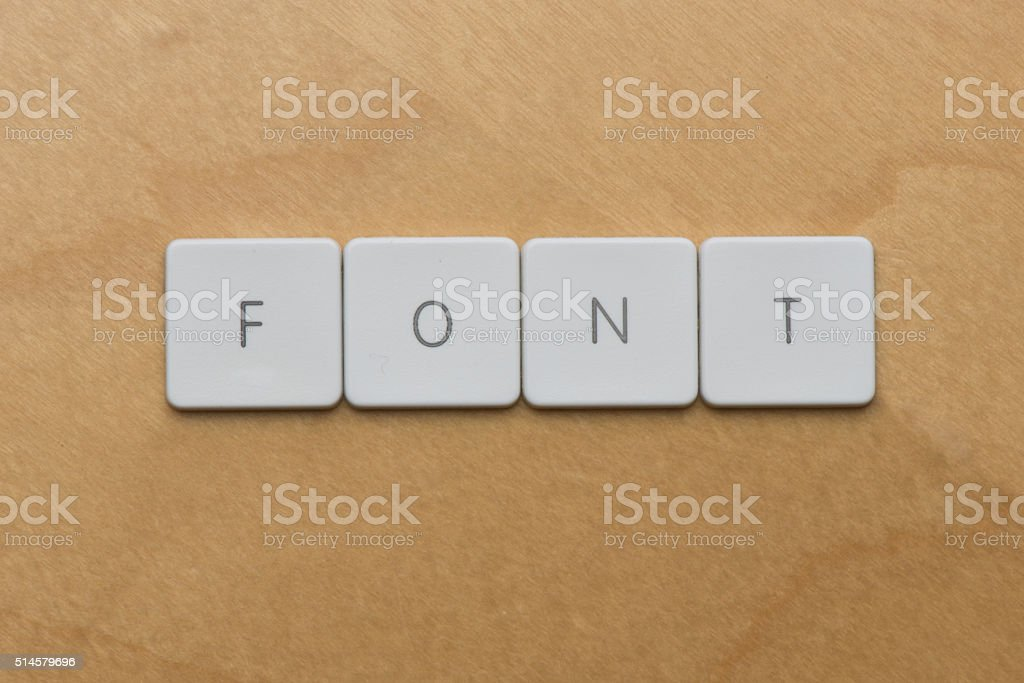 Keyboard Letters-Font stock photo