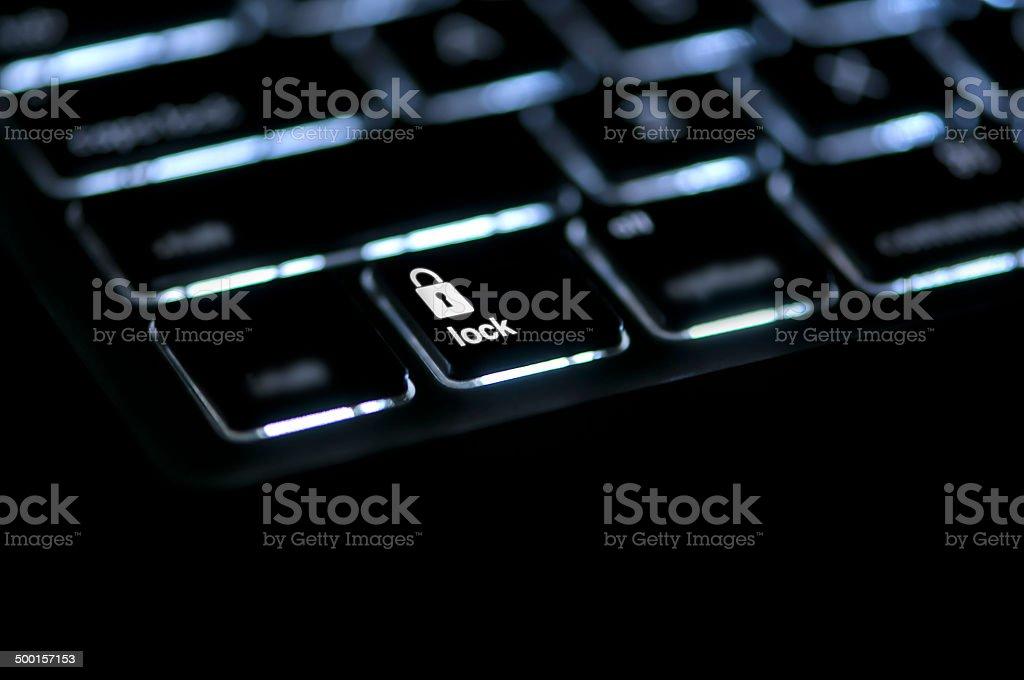 Keyboard Message Lock royalty-free stock photo