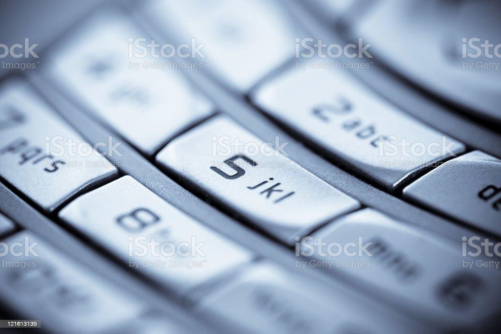 Keyboard Mobile Phone Closep, Selenium Tone stock photo