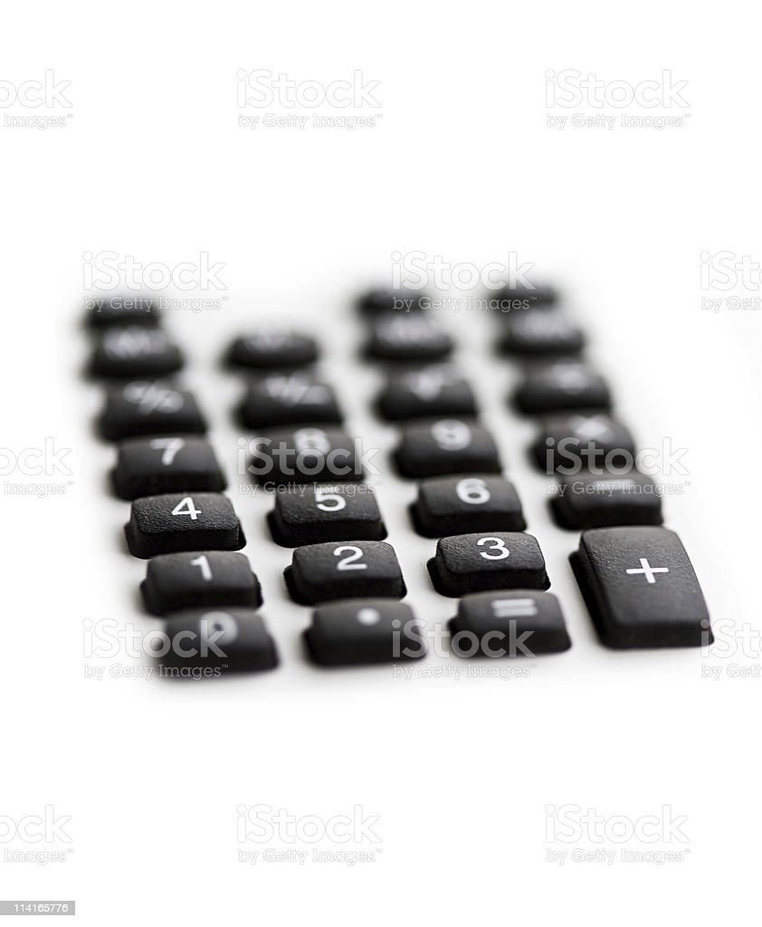 keyboard of calculator royalty-free stock photo