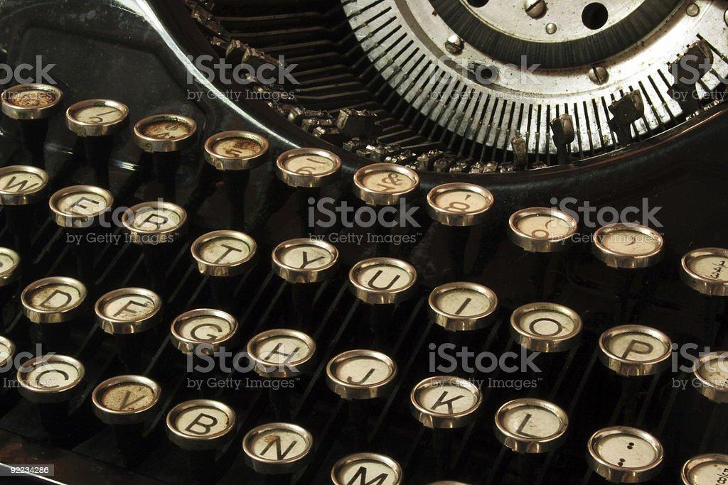 keyboard of old typewriter royalty-free stock photo