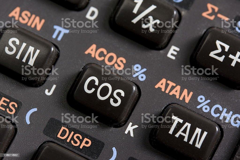 keyboard of programmable scientific calculator stock photo
