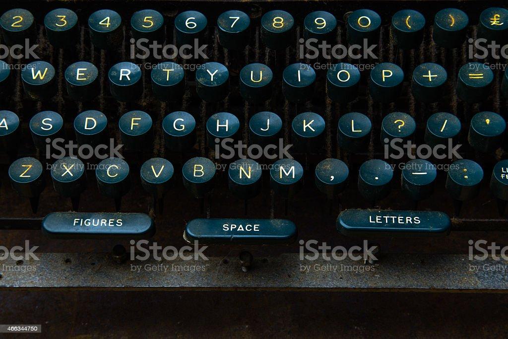 Keyboard of Vintage Teletype stock photo