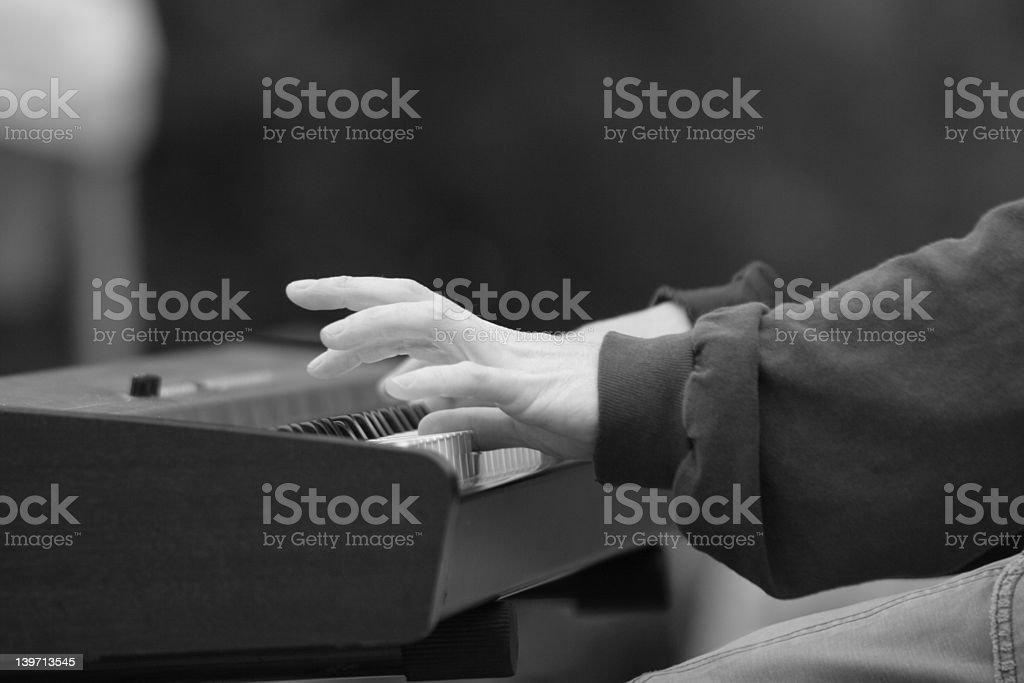 Keyboard PLayer royalty-free stock photo