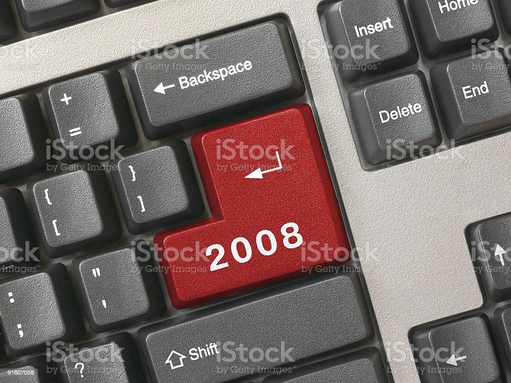 Keyboard -  red key 2008 royalty-free stock photo