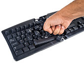 keyboard smashed by angry user